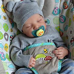 20 Zoll Lebensechte Puppe Baby  Kleinkind Spielzeug Wiedergeborene Babypuppe Levi Neugeborenes lebensecht Handgefertigt Simulation Floppy Head Stoff Silikon Vinyl mit Kleidung und Accessoires für Lightinthebox
