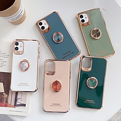 Case For Apple iPhone 11 / iPhone 11 Pro / iPhone 11 Pro Max Shockproof / Plating / Ring Holder Back