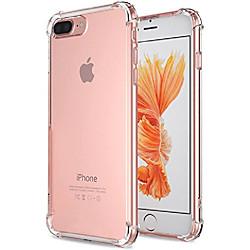 for iphone 7 plus case, for iphone 8 plus case, crystal clear shock absorption technology bumper sof