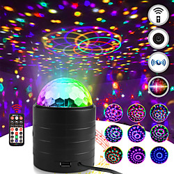 Bluetooth Sound Activated Strobe Light Crystal Magic Ball Party Lights Rotating Disco XMAS LED Stage