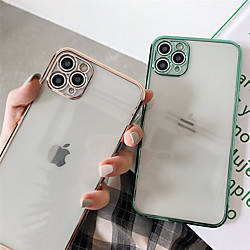 Case For Apple iPhone 12 / iPhone 12 Mini / iPhone 12 Pro Max Plating / Transparent Back Cover Trans