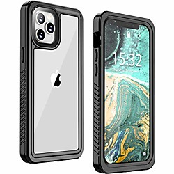for iphone 12 case/iphone 12 pro case, ip68 waterproof shockproof case with built-in screen protecto