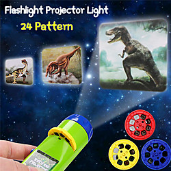 24 Patterns Projection Flashlight Children Projector Light Cute Cartoon Toy Night Photo Picture Ligh
