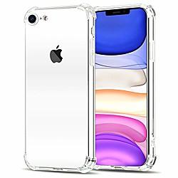 iphone case fit se 2020 case/iphone 8 case/iphone 7 case,transparent back phone case with tpu bumper