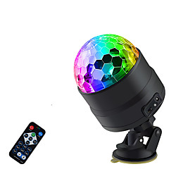 Sound Activated Rotating Disco Ball Party Lights Strobe Light USB LED Stage Lights For Christmas Hom