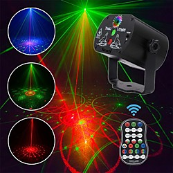60 Patterns LED Disco Light Christmas Laser Projector Party Light USB Rechargeable RGB Stage Light f