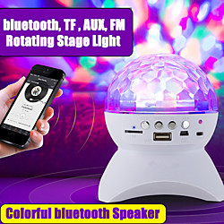 Wireless bluetooth Speaker Stage Light RGB LED Crystal Ball Effect Light DJ Club Disco Party Lightin