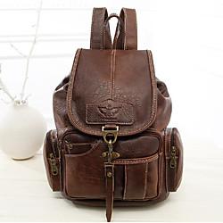 Image of borsa zaino in pelle impermeabile stile vintage da donna nuova moda zaino per ragazze marrone chiaro Lightinthebox
