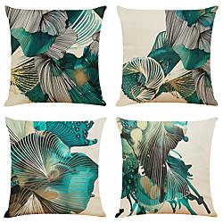 Image of set di 4 federe per cuscini decorativi quadrati in finto lino di arte astratta fodere per cuscini del divano per la casa cuscino decorativo per esterni per divano divano letto sedia Lightinthebox