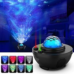 Night Light Projector Star Projector Ocean Wave Projector-Galaxy Projector Two Laser Lights with Blu