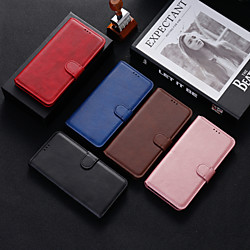 Case For Samsung Galaxy S9 / S9 Plus / S8 Plus Shockproof Full Body Cases Solid Colored PU Leather /