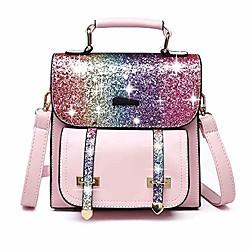 Image of zaino da donna glitter bling zaino con paillettes zaino scintillante con spalline regolabili borse a tracolla di grande capacità borsa a tracolla casual borsa da viaggio scuola di moda borsa, rosa