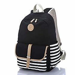 Image of Zaino scuola modello anchor Zaino per laptop a righe per ragazze grigio