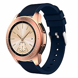 compatible for samsung galaxy watch 42mm / 46mm, silicone strap sports replacement wristband for wom