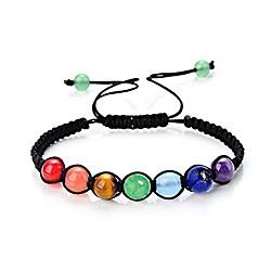 Image of 7 braccialetto chakra braccialetto reiki quarzo arcobaleno braccialetto di perle (6 mm 7 perline)
