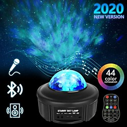 LIXFIELD Star Sky Night Light LED Projector Colour Changing Lamp With Bluetooth Speaker and Remote C