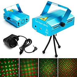 Star Laser Light Party lights Strobe Stage Lights Disco DJ Lights Sound Activated with Remote Contro