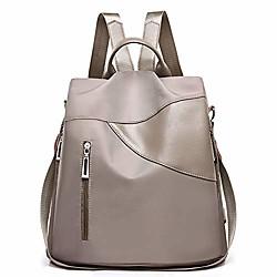 Image of zaino da donna borsa zaino da viaggio zaino impermeabile zaino leggero borsa a tracolla scuola 08khaki