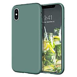 iphone xs case, iphone x case  slim lightweight smooth liquid silicone soft gel rubber microfiber li