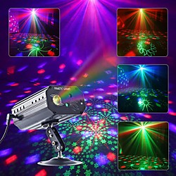CHINLY Party Light RGB DJ Disco Laser Sound Activated LED Projector Christmas Halloween Decoration W