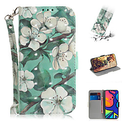 Case For Samsung Galaxy S20 Plus / S20 Ultra / S20 Shockproof Full Body Cases Cartoon / Flower PU Le