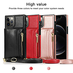 Case For Apple iPhone 12 / iPhone 11 / iPhone 12 Pro Max Shockproof Back Cover Solid Colored PU Leat