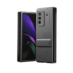 Case For Samsung Galaxy Galaxy Z Fold 2 with Stand Back Cover Solid Colored TPU