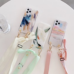 Case For Apple iPhone 12 / iPhone 11 / iPhone 12 Pro Max Shockproof Back Cover Color Gradient / Word