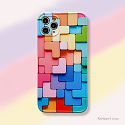 Case For Apple iPhone 12 / iPhone 11 / iPhone 12 Pro Max Shockproof Back Cover Geometric Pattern TPU