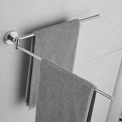 Home & Garden Towel Bar Adorable / Lovely / Creative Contemporary / Modern Stainless Steel 2-tower bar Wall Mounted Lightinthebox