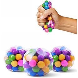 1 Stück klare Stressbälle bunte Kugel Autismus Stimmung Squeeze Relief gesundes Spielzeug lustige Gadget Vent Spielzeug Kinder Weihnachtsgeschenk Lightinthebox