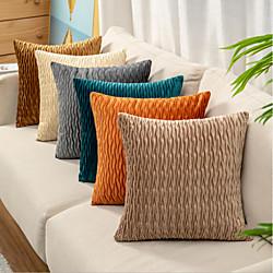 Image of doppio lato 1 pz tinta unita cuscino stampa 45x45 cm finto lino per divano camera da letto cuscino esterno per divano divano letto poltrona bed Lightinthebox