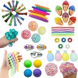 14 Stück sensorisches Zappeln Spielzeug Set Bundle-DNA Marmor und Mesh Stressabbau Bälle mit zappeln Handspielzeug für Kinder Erwachsene Beruhigende Spielzeug für ADHS Autismus Angst Linderung Lightinthebox