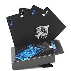 54pcs neue wasserdichte PVC reine schwarze Magie Box verpackt Plastikspielkarten Set Deck Poker klassische Zaubertricks Tool Lightinthebox