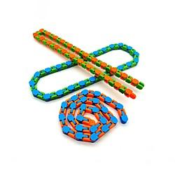 10 Stück Spielzeug bunte Puzzle sensorische Spuren schnappen und klicken Zappeln Spielzeug Kinder Zappeln Spielzeug Stressabbau drehen und formen 24bit verrückt Lightinthebox