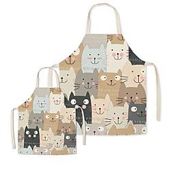 Cute Cartoon Cats Printed Family Aprons Lightinthebox