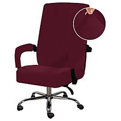 Image of Fodera per sedia da ufficio per computer Fodera per sedia in poliestere estensibile Fodera per sedia girevole elasticizzata, nera Lightinthebox