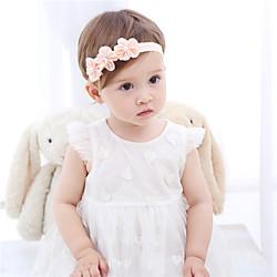 1 Stück Baby Mädchen Aktiv / Süß Freizeitskleidung Blumen / Solide Blumenstil Nylon Haarzubehör Rosa / Weiß Kindergröße / Stirnbänder Lightinthebox