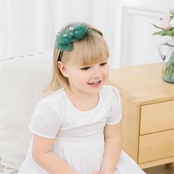 1 Stück Baby Mädchen Aktiv / Süß Freizeitskleidung Blumen / Solide Blumenstil Nylon Haarzubehör Gelb / Rosa / Pudriges Rosa Kindergröße Lightinthebox