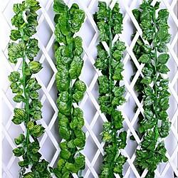 12 stücke efeu grün gefälschte blätter girlande pflanze rebe laub wohnkultur kunststoff rattan string wanddekor künstliche pflanzen Lightinthebox