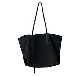 atmosphärische einfache Nylon-Canvas-Tasche Damen-Umhängetasche große Kapazität Tasche schwarz net rot lässige Einkaufstasche wild ins Lightinthebox