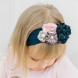 1 Stück Baby Mädchen Aktiv / Süß Freizeitskleidung Blumen Blumenstil Nylon Haarzubehör Gelb / Rosa / Grau Kindergröße Lightinthebox