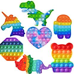 1pc zappeln Spielzeug Regenbogen Push Pop Blase Anti Angst sensorische Spielzeug Blase Pop Stressabbau langlebigamp; waschbares weiches Silikon-Quetschspielzeug, perfekt für Erwachseneamp; Kinder Lightinthebox