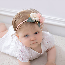 1 Stück Baby Mädchen Aktiv / Süß Freizeitskleidung Blumen Blumenstil Nylon Haarzubehör Blau / Rosa / Grün Kindergröße Lightinthebox