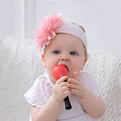 1 Stück Baby Mädchen Aktiv / Süß Freizeitskleidung Blumen / Solide Blumenstil Nylon Haarzubehör Purpur / Gelb / Rosa Kindergröße Lightinthebox