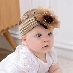 1 Stück Baby Mädchen Aktiv / Süß Freizeitskleidung Blumen / Solide Blumenstil Nylon Haarzubehör Blau / Rosa / Grau Kindergröße Lightinthebox