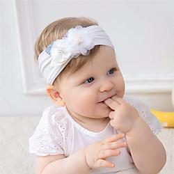 1 Stück Baby Mädchen Aktiv / Süß Freizeitskleidung Blumen / Solide Blumenstil Nylon Haarzubehör Gelb / Rosa / Grün Kindergröße Lightinthebox