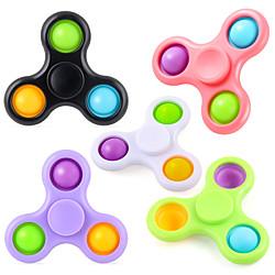 2 in 1 Pop Fidget Spinner 2 Pack einfaches Zappelspielzeug mit Blase, einfache Zappelspinner Stressabbau, Zappelpaket bunt für Kinder Erwachsene Lightinthebox