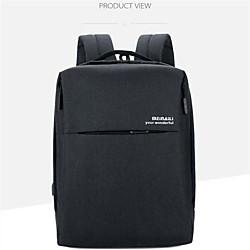 16 Laptop Rucksäcke Polyester Volltonfarbe Für Männer Für Frauen für Geschäftsstelle Wasserdicht Stossfest Lightinthebox