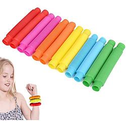 12er-Pack Mini-Pop-Röhre sensorisches Zappelspielzeug bunt Heavy-Duty für den Bau Bau pädagogisches Spielzeug für Stress-Autismus adhd Lightinthebox